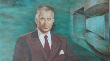 Tribute to E.O. Lawrence Moves into ALS Lobby
