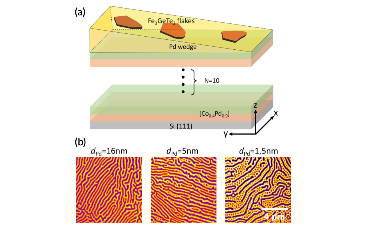 A wedge-shaped spacer layer tunes the interlayer coupling that induces skyrmions.